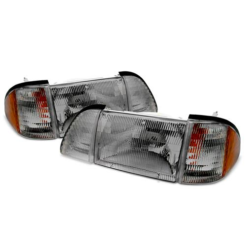 SVE Mustang Smoked Headlight Kit w/ Amber Side Markers (87-93)