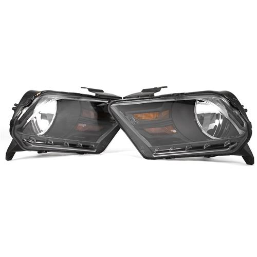 SVE Mustang Headlight Kit  - Matte Black (10-12) HL-FRMT10-BC