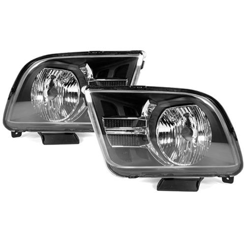 Mustang Gen 2 Headlights - Clear Reflector (05-09)