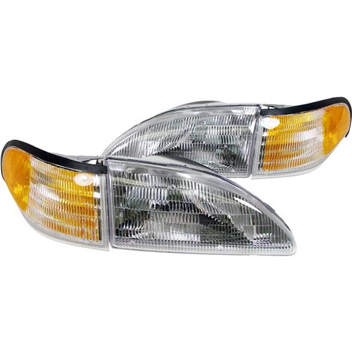 Mustang Headlight Kit with Amber Sidemarkers (94-98)