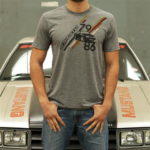 5.0 Resto 79-86 Fox Body T-Shirt  - Grey - Large 130-7986 LARGE