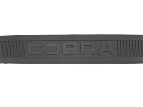 Mustang Cobra Text Scuff Plates Black (79-93)