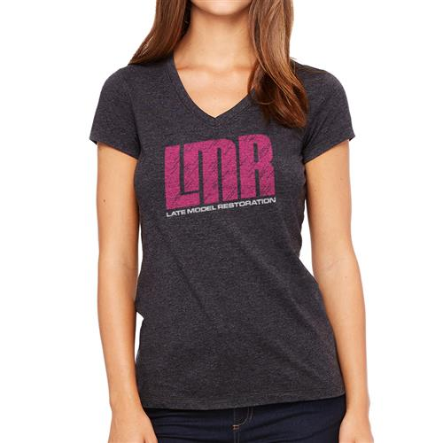 LMR Ladies V-Neck T-Shirt - Black - Small 1350LV-LMR - SMALL