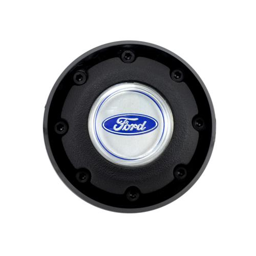 Mustang 3-Spoke Steering Wheel Horn Button  w/ Black Outer Rim (79-82) D9ZZ-13805-B