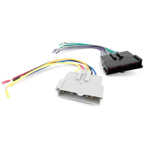 mustang radio install wiring harness (87-00) - lmr.com  late model restoration