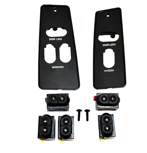 Mustang Window Switch & Switch Cover Kit (87-93) Coupe Hatchback