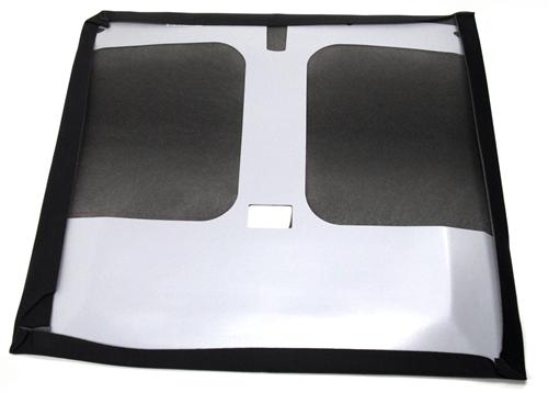 Mustang Headliner with Abs Board  Black Cloth (83-88) Hatchback with T-Tops
