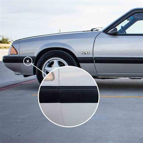 Mustang Front Of Front Fender Molding - LH (87-90) LX E7ZZ-16069