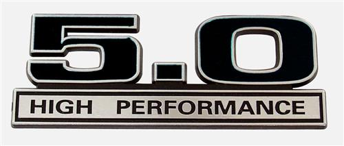 Mustang 5.0L High Performance Emblem Black