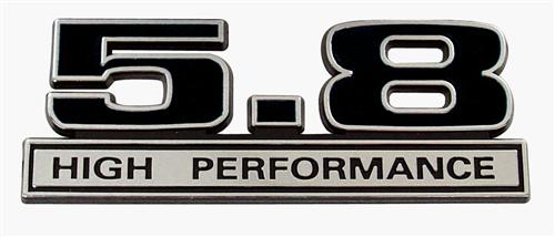 Mustang 5.8L High Performance Emblem Black  (79-85)