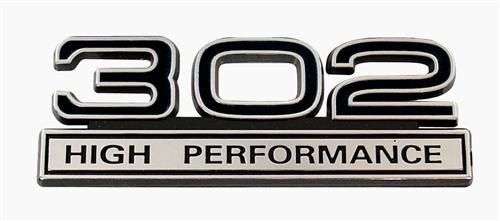 Mustang 302 High Performance Emblem Black