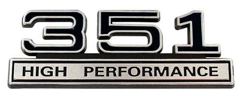 Mustang 351 High Performance Emblem Black