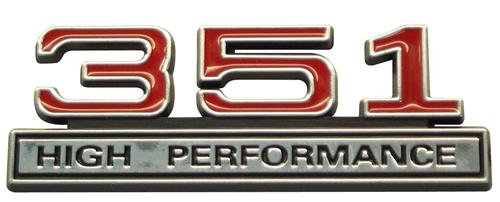 Mustang 351 High Performance Emblem Red
