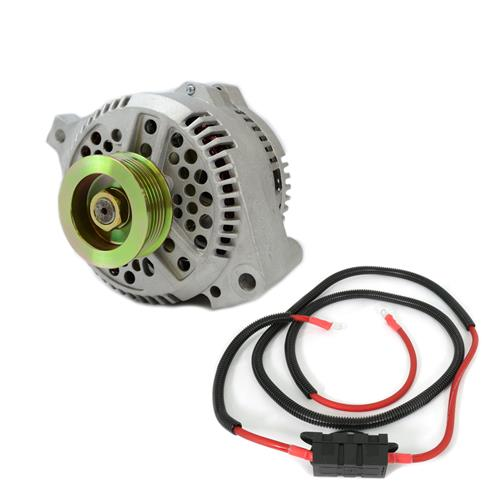 sve mustang 130 amp alternator & power wire kit (94-95) gt-  lrs-17046k