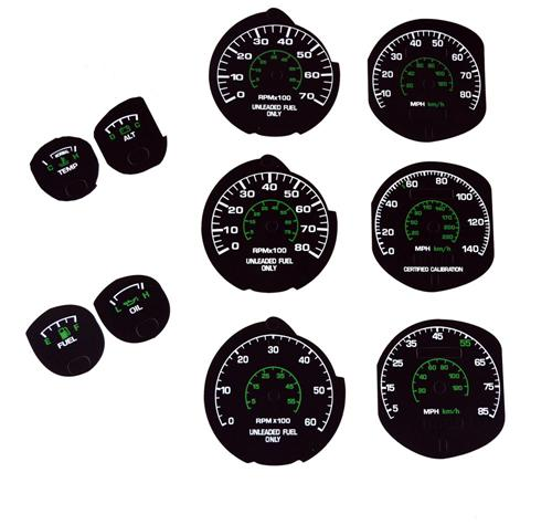 1979-82 Mustang Factory Black Face Gauge Kit.