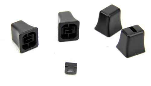 Mustang A/C & Heater Control Knob Kit Black (79-86) - Picture of Mustang A/C & Heater Control Knob Kit Black (79-86)