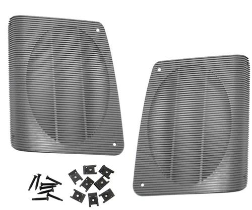 Picture of Mustang Hatch Speaker Grille Kit Smoke Gray (87-93)