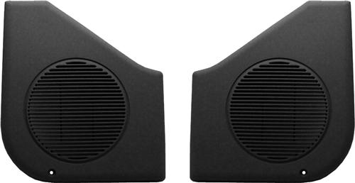 Mustang Door Speaker Grilles, Sold As Pair Black (87-93)