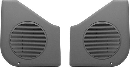 Mustang Door Speaker Grilles, Sold As Pair Smoke Gray (87-93)
