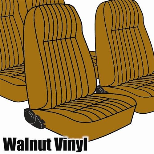 TMI Mustang Seat Upholstery Walnut Vinyl (1983) L Coupe High Back