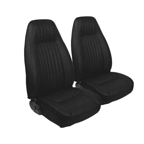 TMI Mustang Seat Upholstery Black Cloth (1983) L Coupe High Back