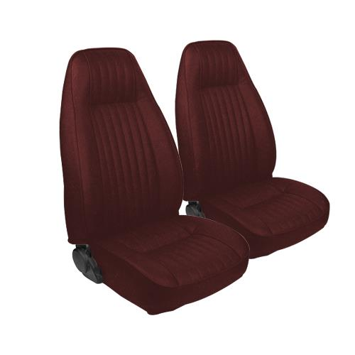 TMI Mustang Seat Upholstery Medium Red Cloth (1983) L Coupe High Back