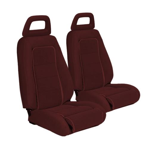 TMI Mustang Sport Seat Upholstery Medium Red Cloth (1983) Convertible