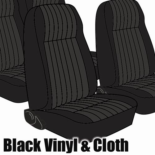TMI Mustang Seat Upholstery Black Cloth (1983) L Hatchback High