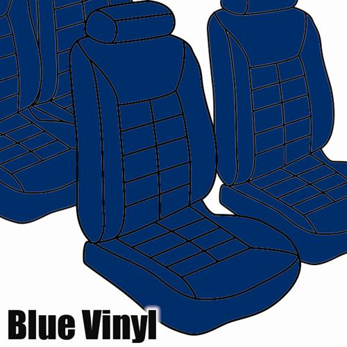 TMI Mustang Seat Upholstery Academy Blue Vinyl (1983) Hatchback