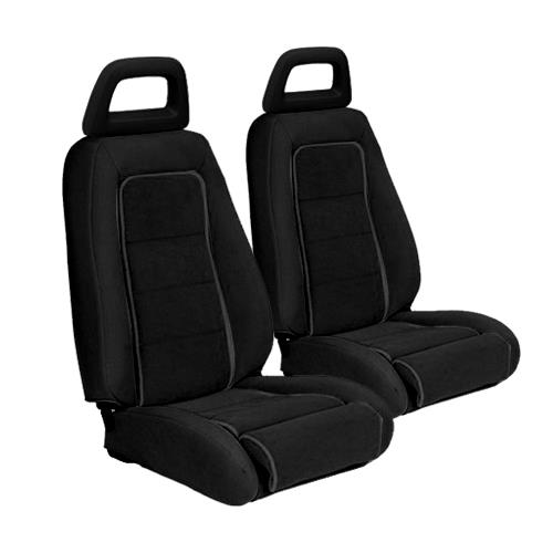 TMI Mustang Sport Seat Upholstery Black Cloth (1983) Hatchback