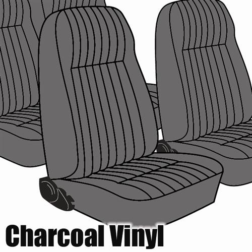 TMI Mustang Seat Upholstery Charcoal Gray Vinyl (1984) L Coupe