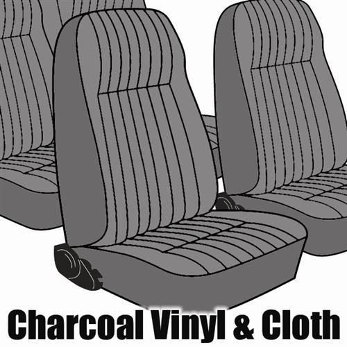 TMI Mustang Seat Upholstery Charcoal Gray Cloth (1984) L Hatchback