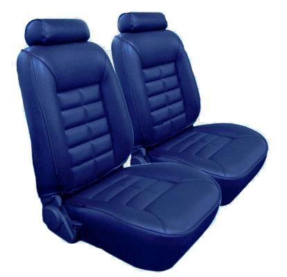 TMI Mustang Seat Upholstery Academy Blue Vinyl (1984) Hatchback
