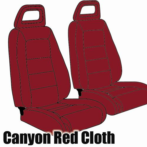 TMI Mustang Sport Seat Upholstery Canyon Red Cloth (1984) Hatchback