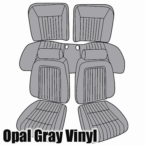 TMI Mustang Sport Seat Upholstery Opal Gray (1993) Convertible 43-74622-6687