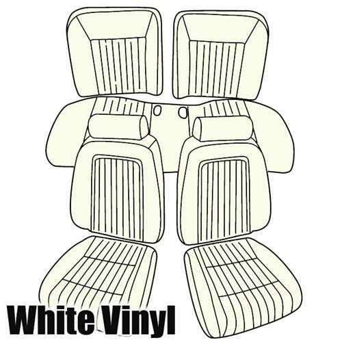 TMI Mustang Sport Seat Upholstery White Vinyl (1993) Limited Edition Convertible 43-74622-965