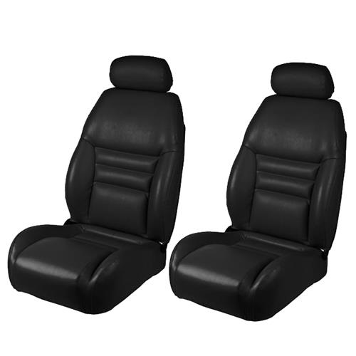 TMI Mustang Front Sport Seat Upholstery  - Black Vinyl (1997) 43-76307-958