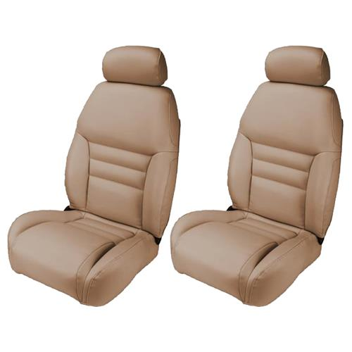 TMI Mustang Front Sport Seat Upholstery  - Saddle Tan Vinyl (1998) 43-76308-6873
