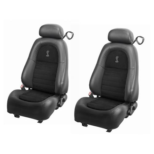 TMI Mustang Cobra Front Seat Upholstery - Vinyl  - Dark Charcoal (2001) 43-76501-6042-99-A