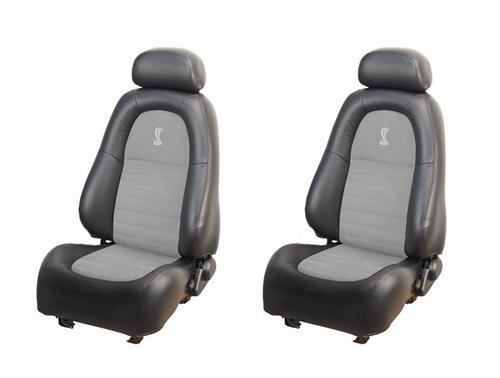 TMI Mustang Cobra Leather Seat Upholstery Kit Dark Charcoal/ Medium Graphite  (2001) Coupe