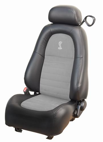 TMI Mustang Cobra Leather Seat Upholstery Dark Charcoal/Med Graphite (2001) Coupe 43-76521-L741-7042-A