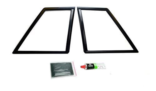 Mustang Quarter Window Covers, Pair (87-93) Coupe