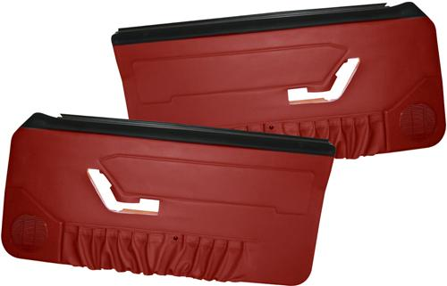 Acme Mustang Deluxe Door Panels for Hardtop w/ Manual Windows Scarlet Red (90-92)