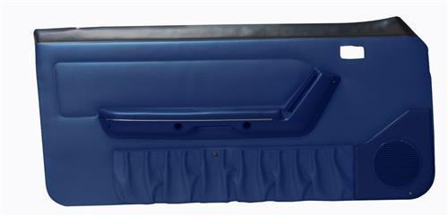 Mustang Deluxe Door Panels for Hardtop w/ Power Windows Regatta Blue (87-89) - regatta blue door panel