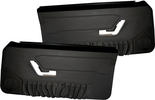 Acme Mustang Deluxe Door Panels for Convertible w/ Power Window Black (90-93)