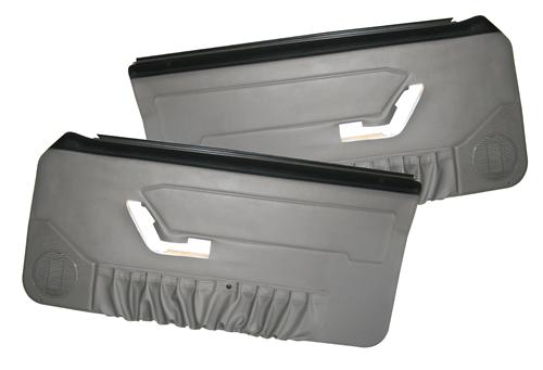 Acme Mustang Deluxe Door Panels for Convertible w/ Power Window Titanium Gray (90-92)