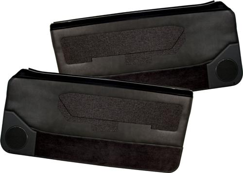 Acme Mustang Deluxe Door Panels for Convertible w/ Power Window w/ Power Windows Black (88-89)