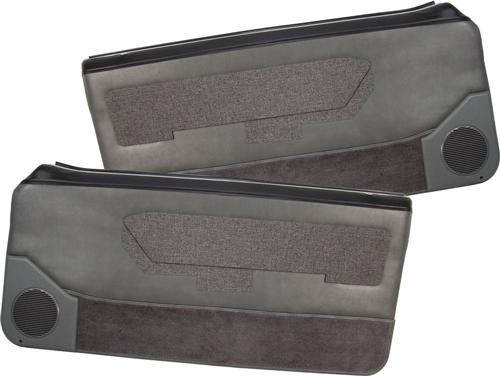 Acme Mustang Deluxe Door Panels for Convertible  w/ Power Windows Smoke Gray (88-89)