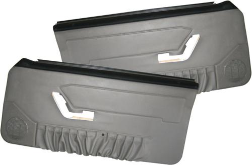 Acme Mustang Deluxe Door Panels for Hardtop w/ Power Windows Titanium Gray (90-92)