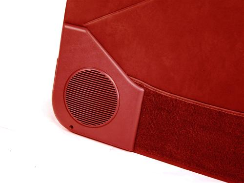 Acme Mustang Deluxe Door Panels for Hardtop w/ Manual Windows Scarlet Red (87-89)